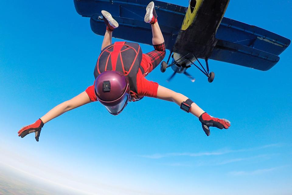 Skydiving is top of the list on extreme post-lockdown activities (Shutterstock)