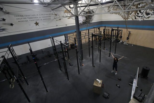 Reebok won't be working with CrossFit after 2020. (AP Photo/Jeff Chiu, File)