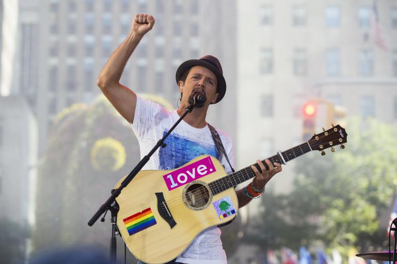 "Singer Jason Mraz performs on NBC's ""Today"" show in New York"