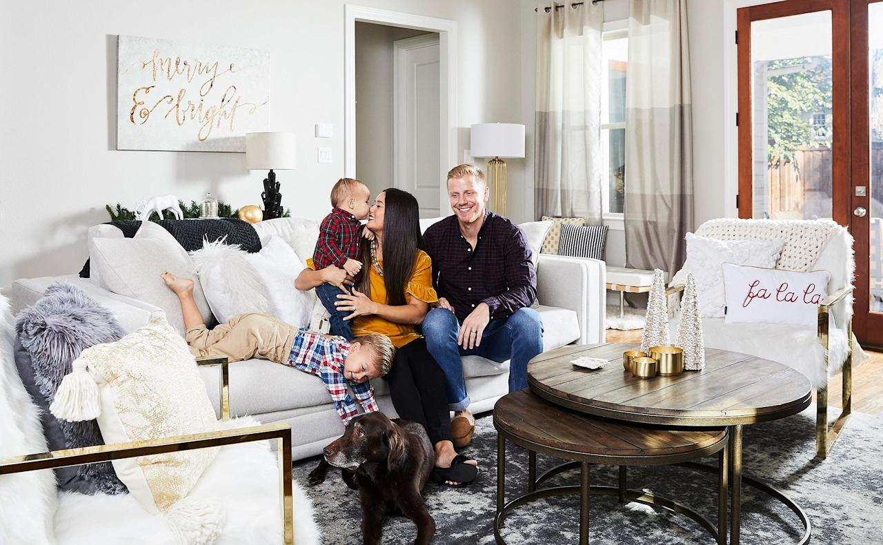 """<a href=""""https://people.com/parents/catherine-giudici-pregnant-wants-daughter-sean-lowe-third-child-exclusive/"""">Baby number three is on the way</a> for Sean and Catherine Lowe, but their family isn't the only thing that's growing — <a href=""""https://people.com/home/sean-and-catherine-lowe-house-tour-launch-furniture-line/"""">their home line with Wayfair</a> is too!  The creative couple — who met on the seventeenth season of<i> The Bachelor </i>in 2013 — first launched <a href=""""https://www.wayfair.com/brand/bnd/home-by-sean-catherine-lowe-b43961.html"""">""""Home by Sean and Catherine Lowe,""""</a> in April 2017, launching a collection of attractive, kid-friendly furniture pieces Catherine dubbed """"sophisti-comfortable.""""  Now, they're releasing a new set of unique and cozy pieces for Winter 2019 (including rugs for the first time!) and they gave PEOPLE an inside look at how they've used them to decorate their own Dallas home for the holiday season. Take a peek inside!"""