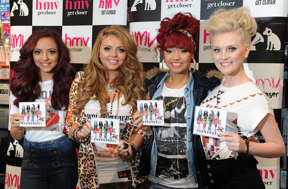 Little Mix were the first group to win The X Factor. (Photo by Owen Humphreys/PA Images via Getty Images)
