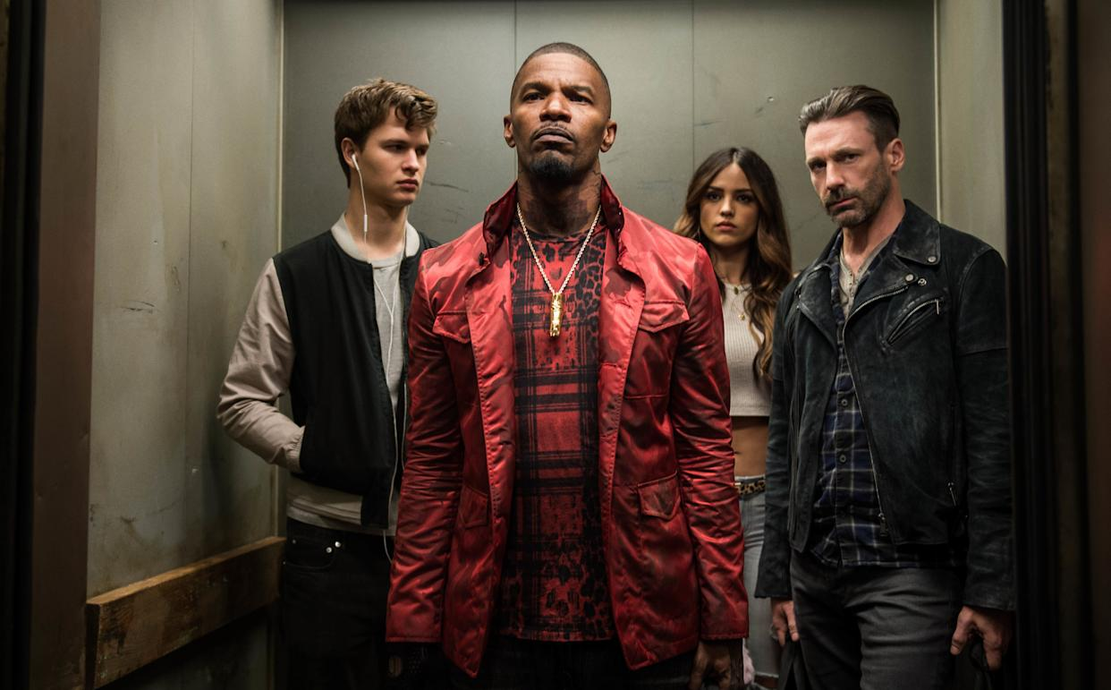 Directed by Edgar Wright &amp;bull; Written by Edgar Wright<br><br>Starring Ansel Elgort, Jamie Foxx, Jon Hamm, Kevin Spacey,&amp;nbsp;Eiza Gonz&amp;aacute;lez,&amp;nbsp;Sky Ferreira, Jon Bernthal and Flea<br><br><strong>What to expect:&amp;nbsp;</strong>The first &quot;Baby Driver&quot; reviews out of South by Southwest called the movie &quot;<span>thrilling</span>&quot; and &quot;<span>wildly successful</span>.&quot; Essentially a two-hour music video, this crime caper with&amp;nbsp;rom-com undertones stars Ansel Elgort as a getaway driver attempting to abandon his heist habits. Key word: &quot;attempting.&quot;<br><br><i><span>Watch the trailer</span>.</i>