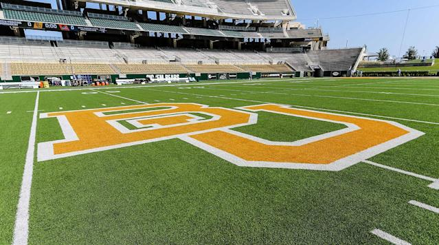 "<p>Two Baylor redshirt football players, along with two other student suspects, are reportedly under investigation in connection with a sexual assault involving Baylor female athletes, <a href=""http://www.kwtx.com/content/news/Sexual-assault-report-involving-BU-athletes-investigated-474251303.html?utm_medium=social&utm_source=twitter_kwtx"" rel=""nofollow noopener"" target=""_blank"" data-ylk=""slk:per KWTX"" class=""link rapid-noclick-resp"">per KWTX</a>. </p><p>The complainant and victim are reportedly members of the school's equestrian team.</p><p>The alleged incident occurred at an apartment complex on the evening of Nov. 11 into the morning of Nov. 12. According to Baylor's <a href=""https://www.baylor.edu/dps/crimelogs/news.php?action=archives&y=2017&m=11"" rel=""nofollow noopener"" target=""_blank"" data-ylk=""slk:online crime log"" class=""link rapid-noclick-resp"">online crime log</a>, it was reported Nov. 14 as ""Alcohol-Minors Consuming/Sexual Assault."" But police reports obtained by KWTX are dated Nov. 17 and the date discrepancy wasn't explained. </p><p>Pictures and video have been taken into evidence, with some of them possibly being posted to social media, reports KWTX. Four Baylor faculty or staff members have been interviewed but the station was unable to verify if they were athletic department personnel. </p><p>The investigation is ongoing. </p><p>Baylor <a href=""https://www.si.com/college-football/2016/05/26/baylor-art-briles-sexual-assault-ken-starr"" rel=""nofollow noopener"" target=""_blank"" data-ylk=""slk:underwent a huge sexual assault scandal"" class=""link rapid-noclick-resp"">underwent a huge sexual assault scandal</a> starting in 2015 that led to the firing of football coach Art Briles and discipline for its president and athletic director. </p><p>Read the full KWTX report <a href=""http://www.kwtx.com/content/news/Sexual-assault-report-involving-BU-athletes-investigated-474251303.html?utm_medium=social&utm_source=twitter_kwtx"" rel=""nofollow noopener"" target=""_blank"" data-ylk=""slk:here"" class=""link rapid-noclick-resp"">here</a>. </p>"