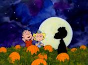 """<p>This holiday treat from the Peanuts gang focuses on Charlie Brown's right-hand man, Linus, as he waits for the mysterious Great Pumpkin (<a class=""""link rapid-noclick-resp"""" href=""""https://www.popsugar.com/Halloween"""" rel=""""nofollow noopener"""" target=""""_blank"""" data-ylk=""""slk:Halloween"""">Halloween</a>'s answer to Santa Claus). Oh, and Charlie Brown goes trick-or-treating - and gets a rock [cue the sad theme music].</p> <p><a href=""""https://tv.apple.com/us/movie/its-the-great-pumpkin-charlie-brown/umc.cmc.1c5nvp802hos5t3u0umlukkwh"""" class=""""link rapid-noclick-resp"""" rel=""""nofollow noopener"""" target=""""_blank"""" data-ylk=""""slk:Watch It's the Great Pumpkin, Charlie Brown on Apple TV here!"""">Watch <strong>It's the Great Pumpkin, Charlie Brown</strong> on Apple TV here!</a></p>"""