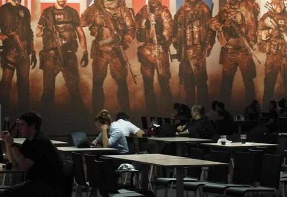 A visitor pauses during the Gamescom 2012 fair in Cologne August 15, 2012.