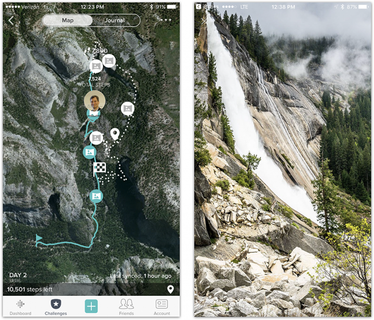Now when you walk, you're walking through Yosemite National Park.