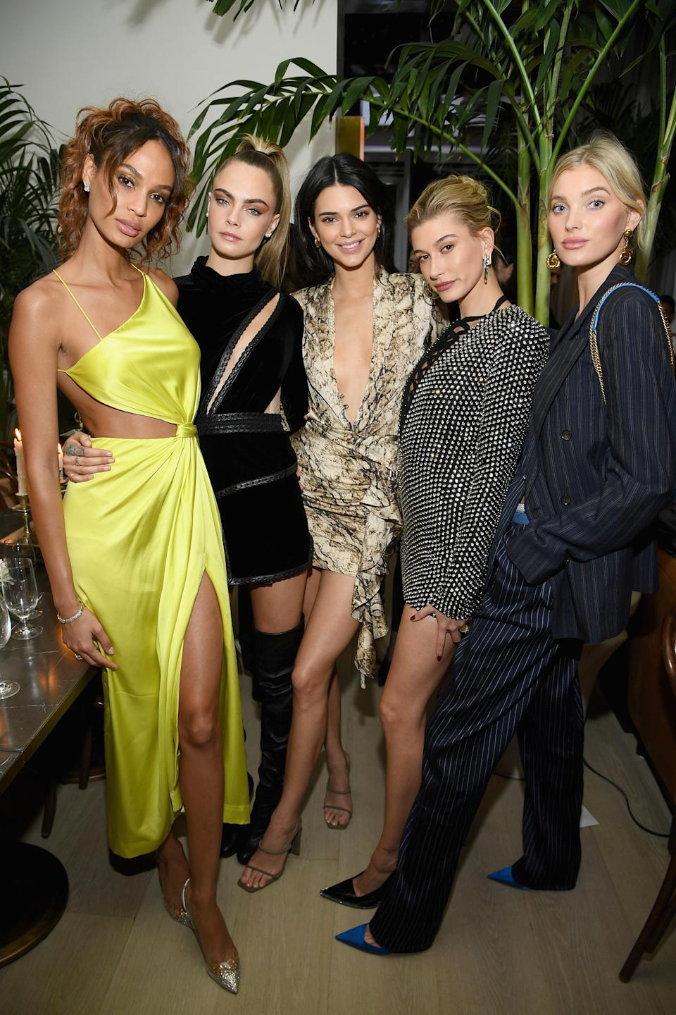 <p>The five models each put their best fashion foot forward in an array of sartorially-savvy ensembles at The Times Square Edition premiere. <em>[Photo: Getty]</em> </p>