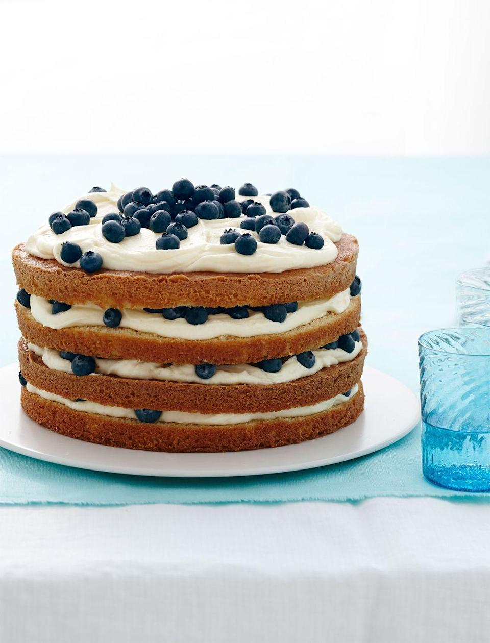 "<p>Throw some strawberries on top of this four-layer cake for the full Fourth effect.</p><p><a href=""https://www.goodhousekeeping.com/food-recipes/a15612/lemon-blueberry-layer-cake-recipe-wdy0414/"" rel=""nofollow noopener"" target=""_blank"" data-ylk=""slk:Get the recipe for Lemon Blueberry Layer Cake »"" class=""link rapid-noclick-resp""><em>Get the recipe for Lemon Blueberry Layer Cake »</em></a></p>"