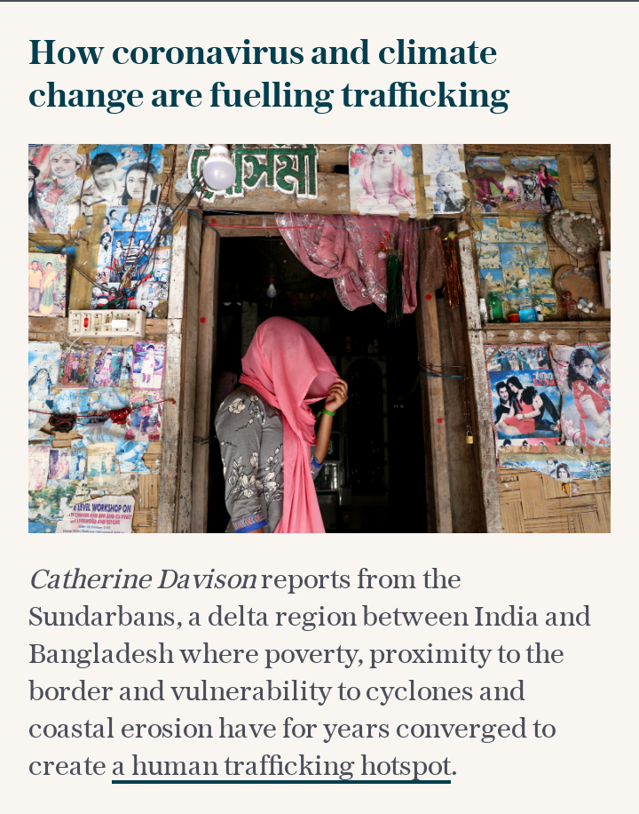 Twin crises of coronavirus and climate change put girls in India at risk of trafficking