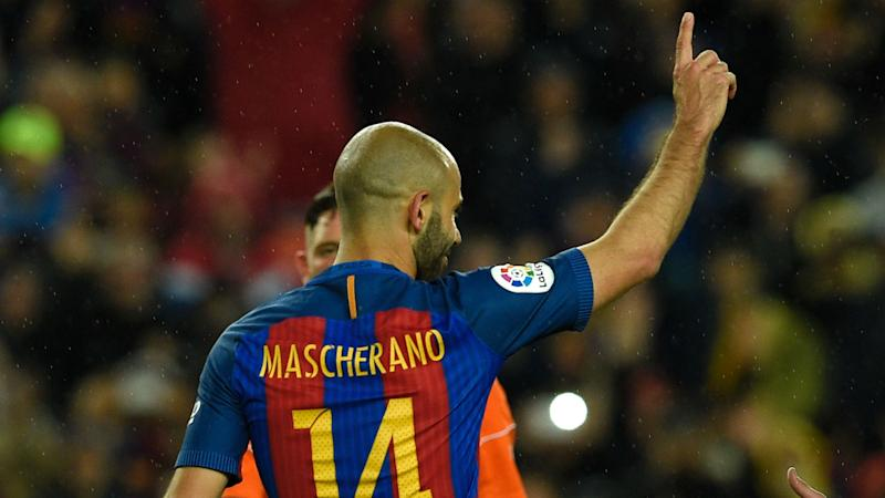 Mascherano ends incredible scoring drought for Barcelona