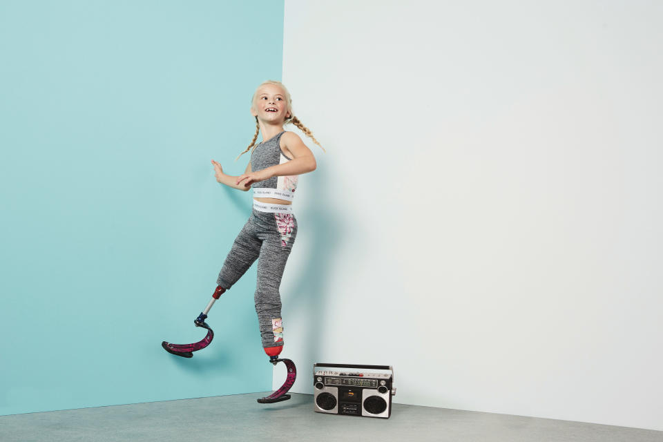 Daisy-May Demetre, a keen gymnast, has won a sportswear modelling contract with River Island [Photo: River Island]