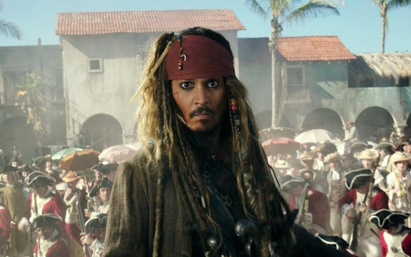 "Johnny Depp portrays Jack Sparrow in a scene from ""Pirates of the Caribbean - Disney"