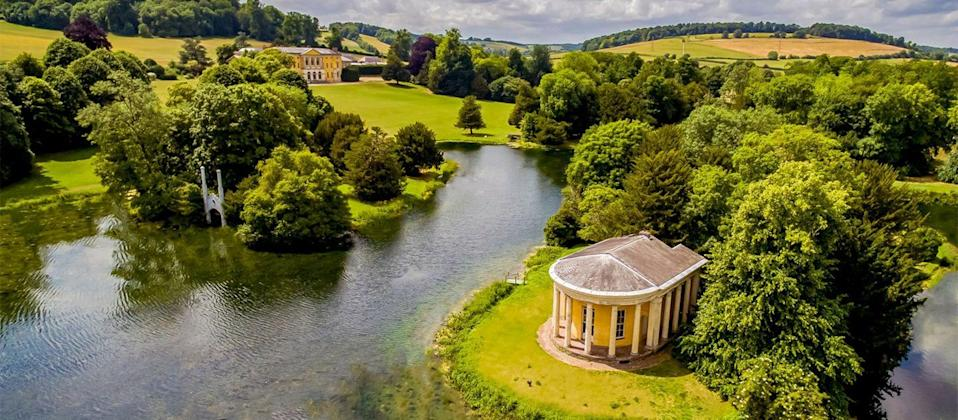 "<p>This is undoubtedly one of the most theatrical Georgian houses in England. Cloaked in paradise Rococo parkland with temples and follies dotted around it, West Wycombe Park is one to revel in.</p><p>The dramatic two-tiered, columned facade will have you at hello, with vibrant orange hues you'll recognise from TV dramas like Little Dorrit, Cranford, and Downton. Simply walking through the colonnade is enough reason to visit. But this we can't ignore the home's interiors, with hand-painted marbled walls, frescoes, tapestries, and a yello drawing room that would no doubt suit Penelope Featherington and her family's citrus palette.</p><p>Raymond Blanc's <a href=""https://go.redirectingat.com?id=127X1599956&url=https%3A%2F%2Fwww.booking.com%2Fhotel%2Fgb%2Fbelmond-le-manoir-aux-quat-39-saisons.en-gb.html%3Faid%3D1922306%26label%3Dstately-homes&sref=https%3A%2F%2Fwww.goodhousekeeping.com%2Fuk%2Flifestyle%2Ftravel%2Fg36058752%2Fstately-homes%2F"" rel=""nofollow noopener"" target=""_blank"" data-ylk=""slk:Belmond Le Manoir aux Quat'Saisons"" class=""link rapid-noclick-resp"">Belmond Le Manoir aux Quat'Saisons</a> is just 20 minutes down the road. Little touches like sugar-coated almonds in your room and a fruit platter on arrival make you feel the crème de la crème!</p><p><a class=""link rapid-noclick-resp"" href=""https://go.redirectingat.com?id=127X1599956&url=https%3A%2F%2Fwww.booking.com%2Fhotel%2Fgb%2Fbelmond-le-manoir-aux-quat-39-saisons.en-gb.html%3Faid%3D1922306%26label%3Dstately-homes&sref=https%3A%2F%2Fwww.goodhousekeeping.com%2Fuk%2Flifestyle%2Ftravel%2Fg36058752%2Fstately-homes%2F"" rel=""nofollow noopener"" target=""_blank"" data-ylk=""slk:CHECK AVAILABILITY"">CHECK AVAILABILITY</a></p>"