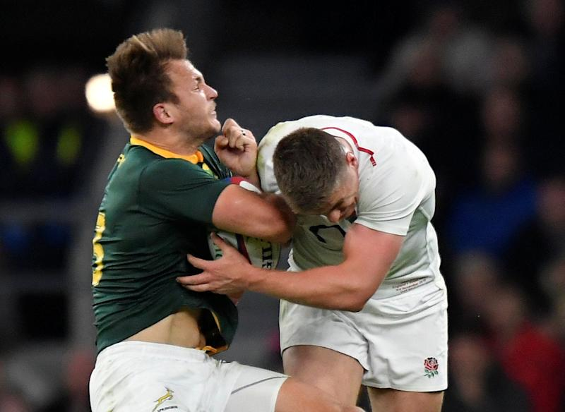 Farrell's tackle technique has long been scrutinisedReuters