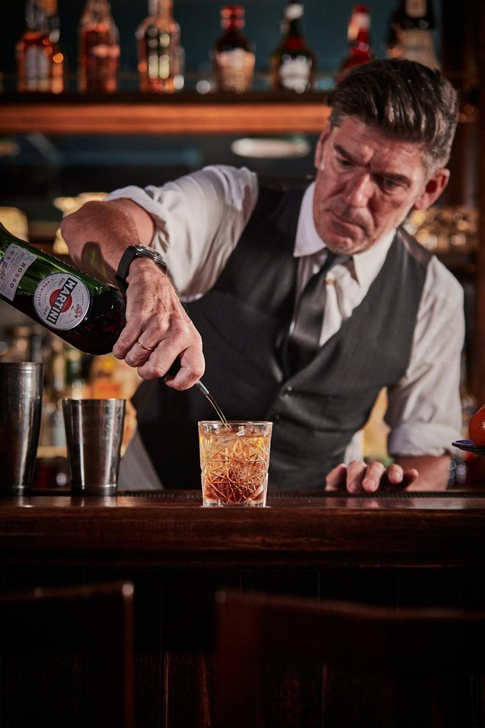 Back behind the bar: Russell Norman (Charlie McKay)