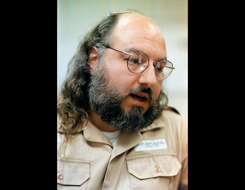 FILE - In this Friday, May 15, 1998 file photo, Jonathan Pollard speaks during an interview in a conference room at the Federal Correction Institution in Butner, N.C. Israel's  president Shimon Peres, backed by thousands of followers, is leading an all-out effort to press U.S. President Barack Obama during his upcoming visit to free convicted spy  Pollard and end one of the most painful sagas between the two allies. (AP Photo/Karl DeBlaker, File)