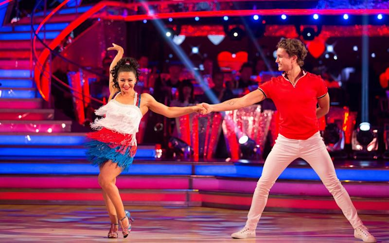Claudia Fragapane is now more know for her Strictly appearances rather than her four Commonwealth gold medals - 1b