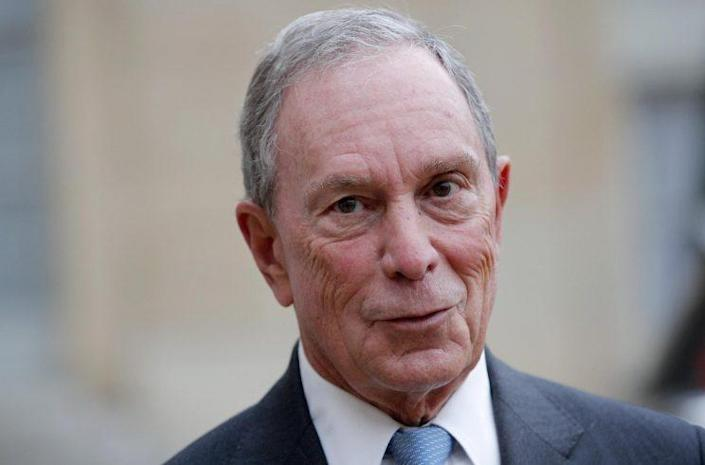 Michael Bloomberg speaks to reporters after a meeting with French president Francois Hollande on March 9. (Photo: Christophe Ena/AP)