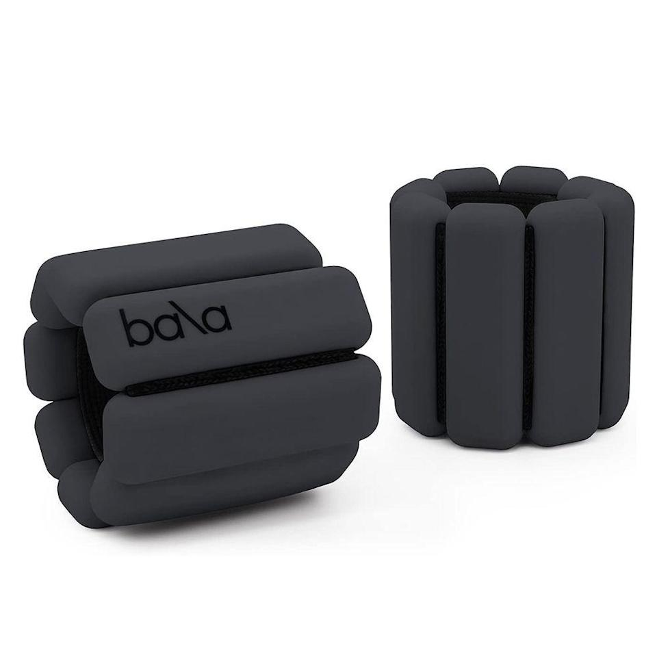 "<p><strong>Bala</strong></p><p>amazon.com</p><p><strong>$49.00</strong></p><p><a href=""https://www.amazon.com/Bala-Bangles-Adjustable-Wearable-Aerobics/dp/B07CKNHNQF?tag=syn-yahoo-20&ascsubtag=%5Bartid%7C2089.g.362%5Bsrc%7Cyahoo-us"" rel=""nofollow noopener"" target=""_blank"" data-ylk=""slk:Shop Now"" class=""link rapid-noclick-resp"">Shop Now</a></p><p>The '80s are back in the form of these wrist and ankle weights, which you may have spotted on the Instagram feeds of celebs like Kate Hudson, Jessica Alba, and Hailey Bieber, and they've even been <a href=""https://www.thecut.com/2020/04/bala-wrist-weights-soothing.html"" rel=""nofollow noopener"" target=""_blank"" data-ylk=""slk:reviewed by The Cut"" class=""link rapid-noclick-resp"">reviewed by The Cut</a>. They're today's trendiest fitness accessory, and anyone who loves a good #gymselfie needs a pair. </p>"
