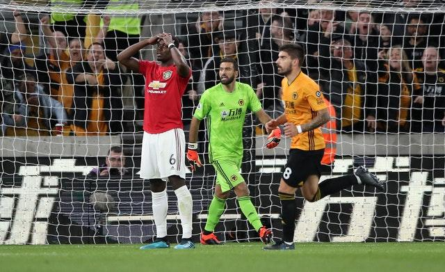 Rui Patricio saved Pogba's penalty during the 1-1 draw on Monday evening