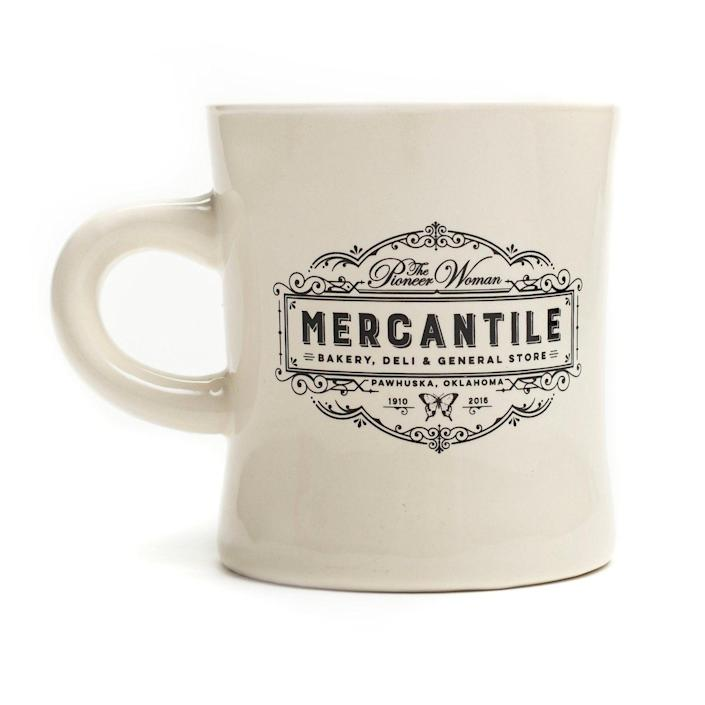 """<p>themercantile.com</p><p><strong>$10.00</strong></p><p><a href=""""https://www.themercantile.com/collections/under-25/products/mercantile-diner-mug"""" rel=""""nofollow noopener"""" target=""""_blank"""" data-ylk=""""slk:Shop Now"""" class=""""link rapid-noclick-resp"""">Shop Now</a></p><p>Lovers of diners, lovers of The Pioneer Woman, and everyone in between will enjoy this sturdy mug. It'll make every morning a little bit brighter.</p>"""