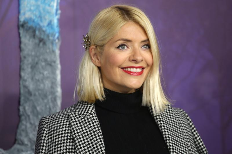 """LONDON, ENGLAND - NOVEMBER 17: Holly Willoughby attends the """"Frozen 2"""" European premiere at BFI Southbank on November 17, 2019 in London, England. (Photo by Lia Toby/Getty Images)"""