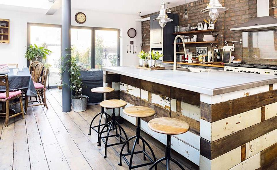 industrial style kitchen extension