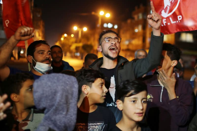 Palestinians call for holding elections on planned date, in Gaza City