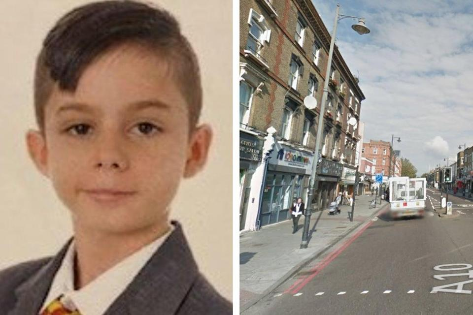 Met Policewere looking for Francis. Shacklewell Lane close to the area he went missing in east London (Met Police/ Google Maps)