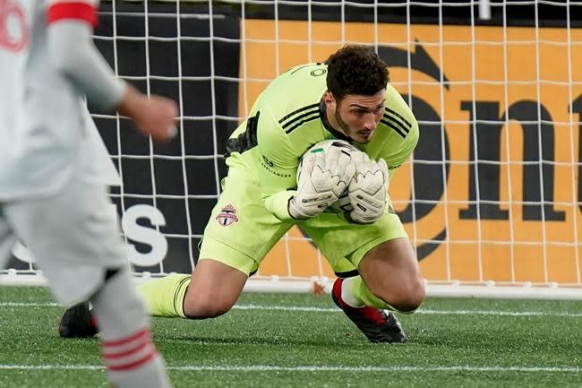 Toronto FC goalkeeper Alex Bono shows class and maturity after record win