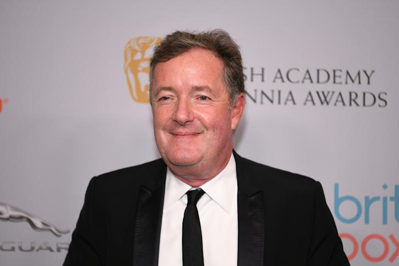 Piers Morgan attends the 2019 British Academy Britannia Awards presented by American Airlines and Jaguar Land Rover at The Beverly Hilton Hotel on October 25, 2019 in Beverly Hills, California. (Photo by Morgan Lieberman/WireImage)