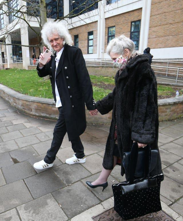 Brian May and Anita Dobson gave evidence on Thursday