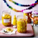 """<p>A well-spiced wintry piccalilli perfect for serving with festive ham and cheeses.<br></p><p><strong>Recipe: <a href=""""https://www.goodhousekeeping.com/uk/christmas/christmas-recipes/a34770243/cheeseboard-piccalilli/"""" rel=""""nofollow noopener"""" target=""""_blank"""" data-ylk=""""slk:Cheeseboard Piccalilli"""" class=""""link rapid-noclick-resp"""">Cheeseboard Piccalilli</a></strong></p>"""