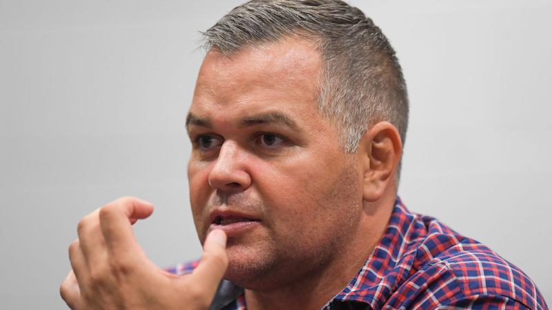 Seen here, Brisbane Broncos coach Anthony Seibold is tipped to be sacked at the end of the 2020 season.