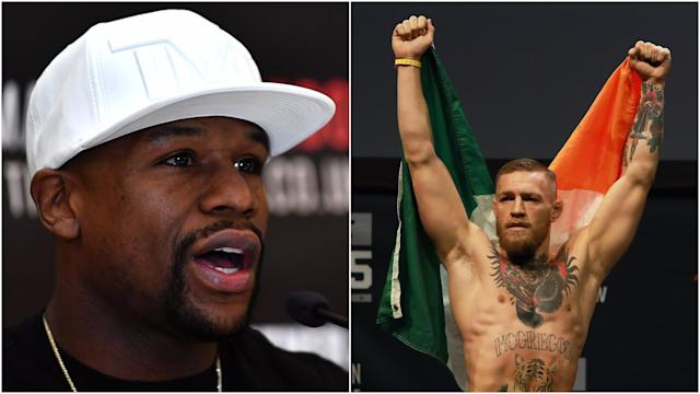"""""""He's a hell of a stand-up fighter."""" Floyd Mayweather Jr. praised Conor McGregor ahead of their expected bout."""