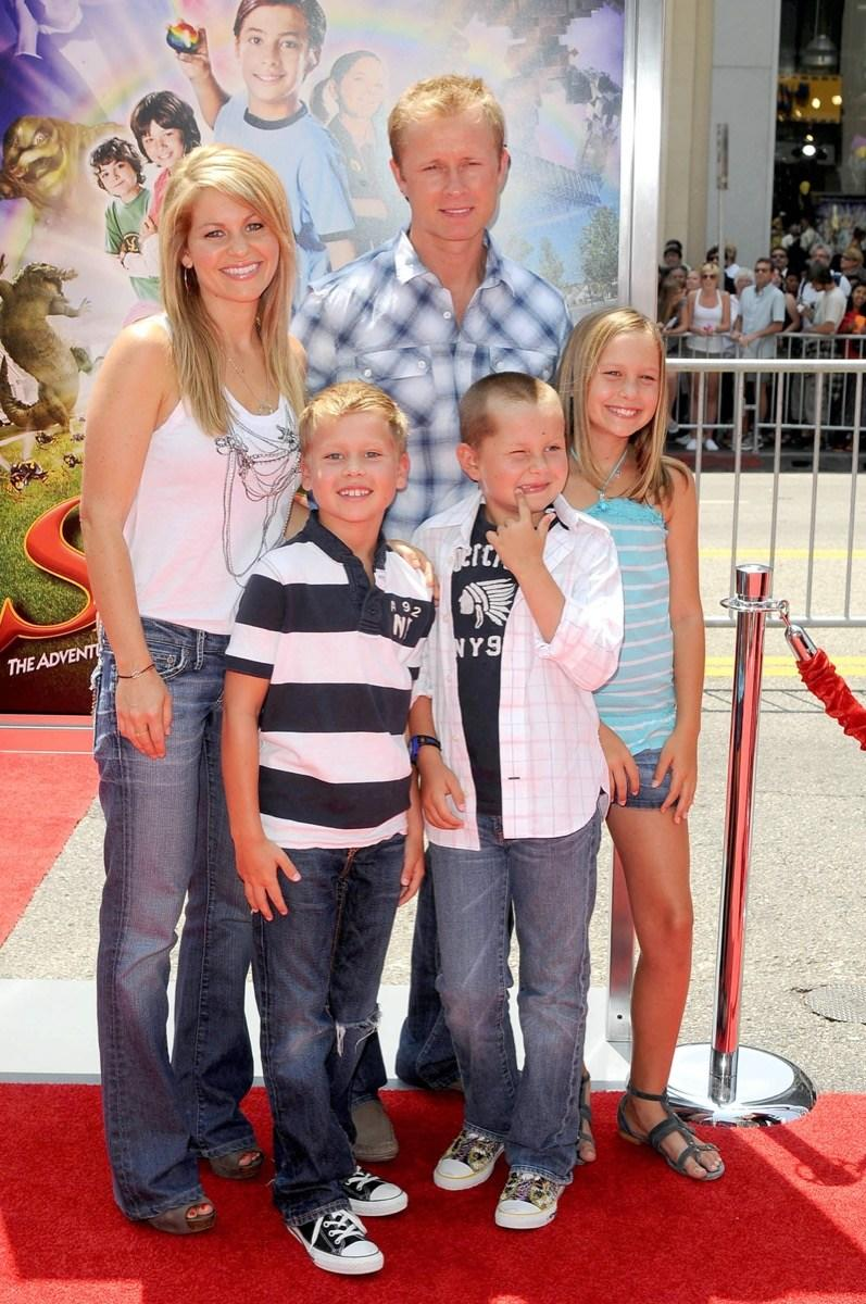 Candace Cameron with her family