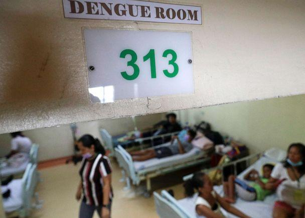 PHOTO: Dengue patients and relatives stay at the dengue room inside the San Lazaro government hospital in Manila, Philippines, Aug. 7, 2019. (Aaron Favila/AP)