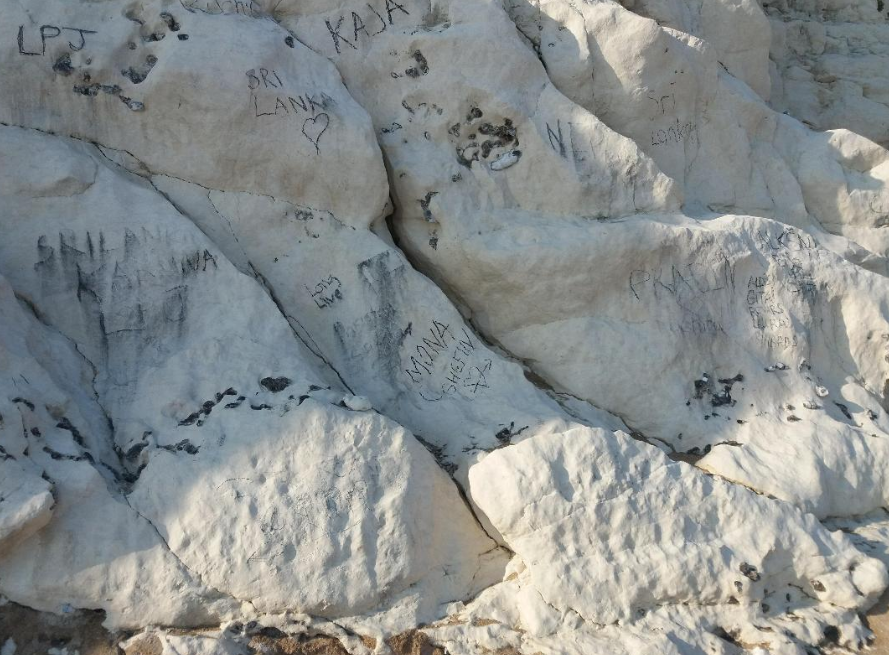 The cliffs at Durdle Door are regularly defaced: Facebook/Lulworth Estate