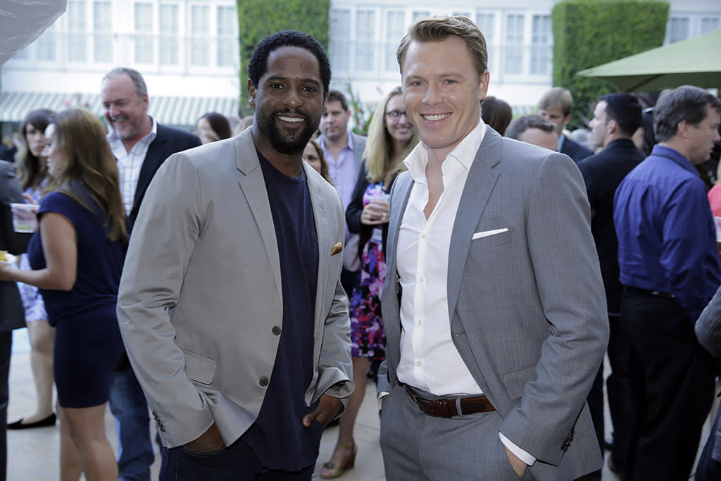 "Blair Underwood (""Ironside"") and Diego Klattenhoff (""Blacklist"") at the NBC Cocktail Reception during the 2013 Summer Television Critics Association tour."