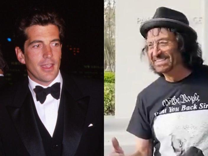 JFK Jr and Vincent Fusca, who some conspiracy theorists believe are the same person ((Photo By George De Sota/Liaison) / Twitter @TheGoodLiars)