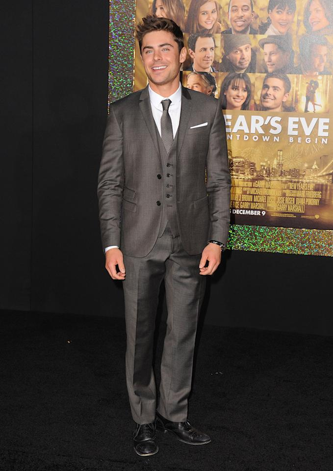 "<a href=""http://movies.yahoo.com/movie/contributor/1808543881"">Zac Efron</a> at the Los Angeles premiere of <a href=""http://movies.yahoo.com/movie/1810219047/info"">New Year's Eve</a> on December 5, 2011."