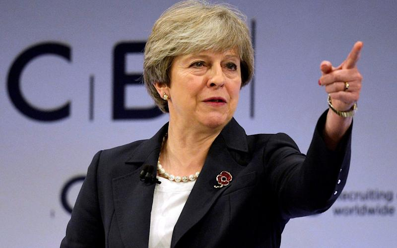 Mrs May said the technology sector had the 'full backing of Government' - REUTERS
