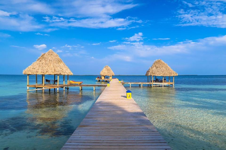 """<strong><a href=""""https://www.tripadvisor.com/Hotel_Review-g5921325-d325495-Reviews-Coco_Plum_Island_Resort-Coco_Plum_Cay_Belize_Cayes.html"""" target=""""_blank"""" rel=""""noopener noreferrer"""">This exclusive, adults-only resort</a></strong> features 18 ocean-front cabanas off the coast of Southern Belize surrounded by Caribbean life. Guests can choose from a variety of activities like diving, swimming, snorkeling, fishing, kayaking and even tour Mayan ruins."""