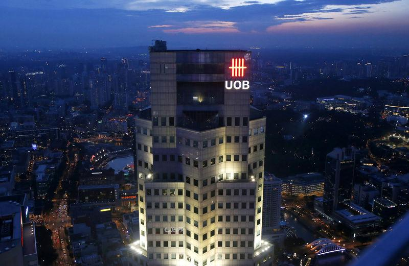 The United Overseas Bank (UOB) Plaza building is pictured in the central business district in Singapore