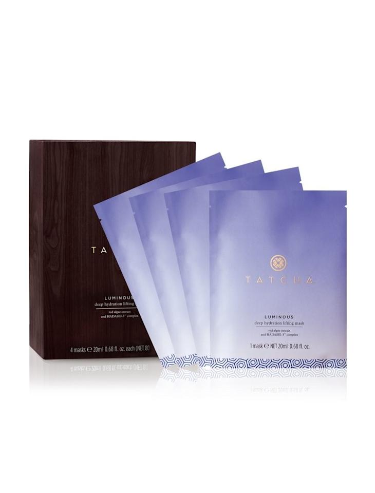 "<p>""Tatcha's <a rel=""nofollow"" href=""http://www.brides.com/story/best-home-face-masks-for-wedding?mbid=synd_yahoolife"">face masks</a> are my favorite. Use this one before you start to get ready on the big day and you'll have a glow that lasts well into the night."" <em>(Luminous deep hydration lifting mask, $95 for four, <a rel=""nofollow"" href=""https://www.tatcha.com/?mbid=synd_yahoolife"">Tatcha</a>)</em></p>"