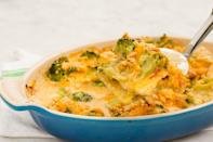 "<p>Don't wait until Wednesday to get your broccoli cheddar fix.</p><p>Get the recipe from <a href=""/cooking/recipe-ideas/recipes/a45183/cracker-barrel-inspired-broccoli-cheddar-chicken-casserole-recipe/"" data-ylk=""slk:Delish"" class=""link rapid-noclick-resp"">Delish</a>.</p>"