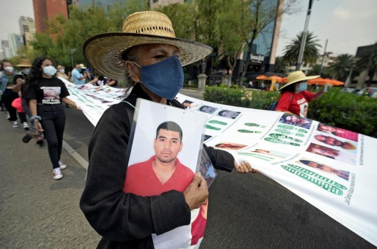 Mothers of people missing in Mexico march in the capital demanding answers about their children's fate