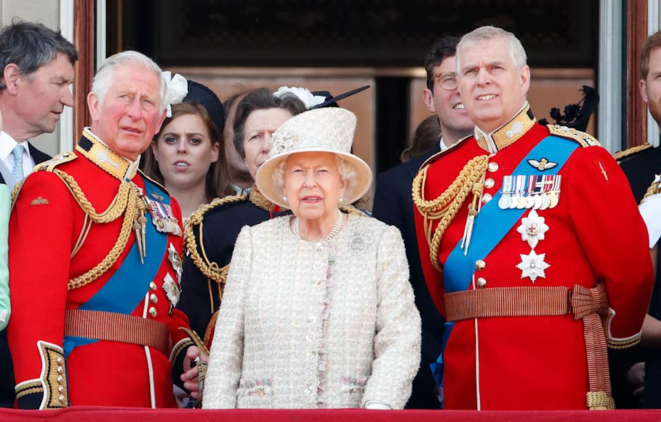 Prince Andrew, Prince Charles and the Queen