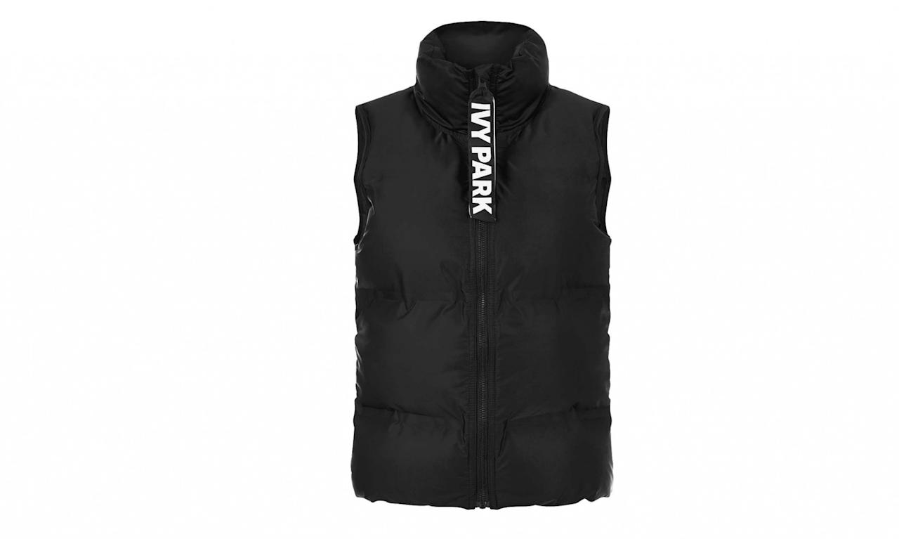 "<p>Oversized Bonded Sleeveless Puffer, $80, <a rel=""nofollow"" href=""http://us.topshop.com/en/tsus/product/clothing-70483/ivy-park-5463606/oversized-bonded-sleeveless-puffer-by-ivy-park-5917050?bi=40&ps=20"">topshop.com</a> </p>"