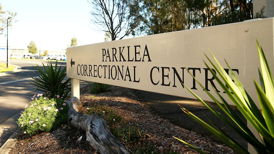 The entry sign, pictured here at Parklea Correctional Centre.